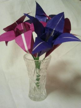 Vase of Irises with Stems. 12.10.2016.