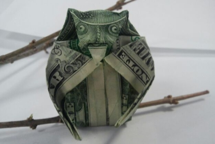 Dollar Bill Owl. 2.22.2017