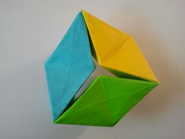 Colorful Action Toy 3d Hexaflexagon My Folds