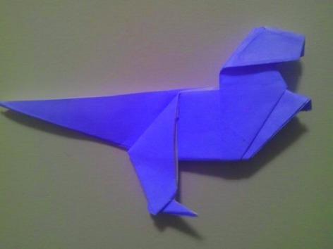 Blue Origami Dino 1.15.2018